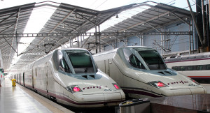 High speed trains at Malaga, Spain
