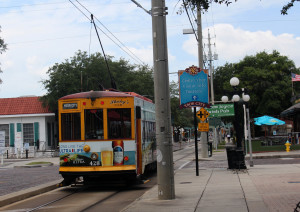 Tampa's TECO Trolley runes every 15 minutes to and from Ybor City.