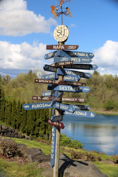 winery direction sign sign
