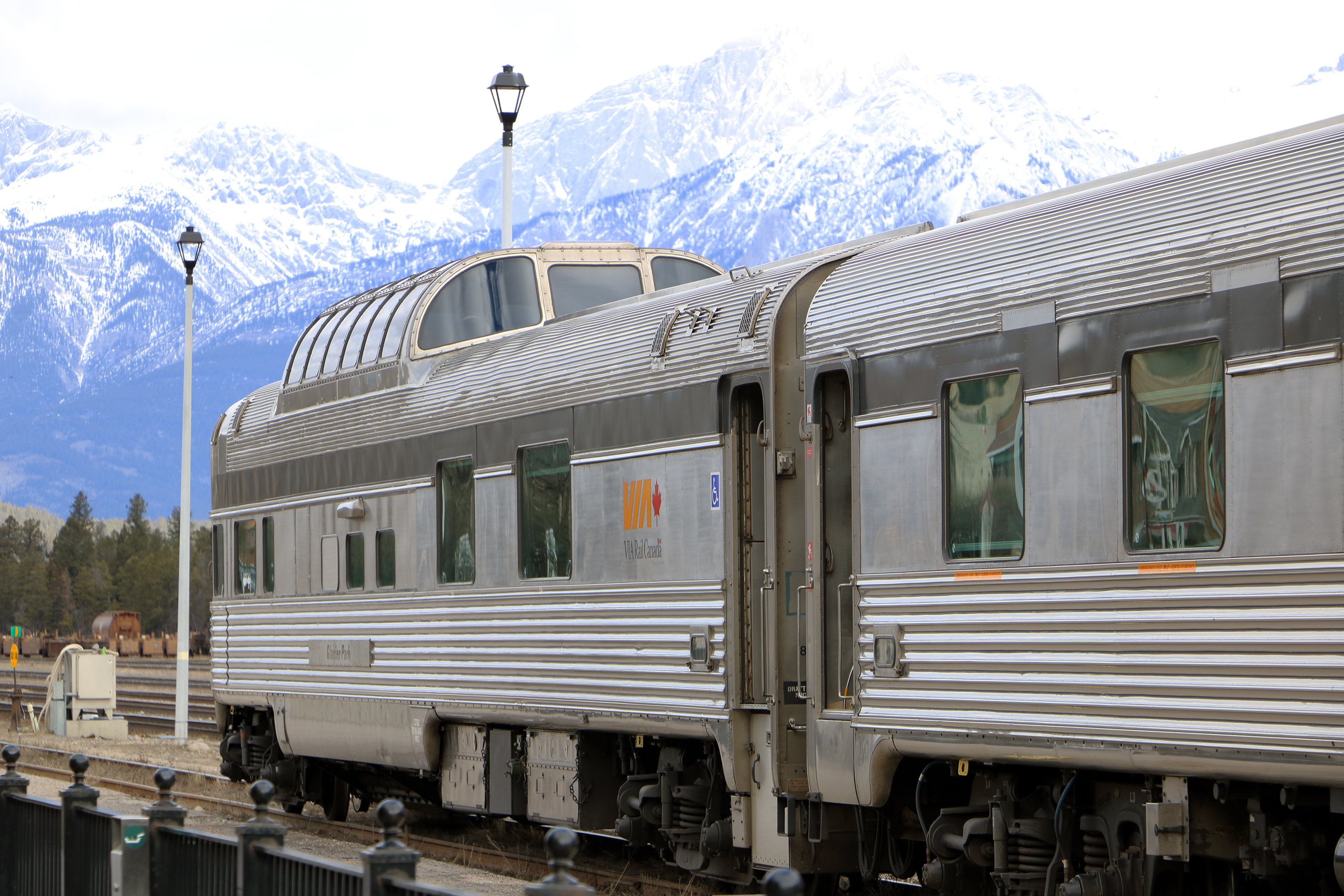 Observation car in Jasper